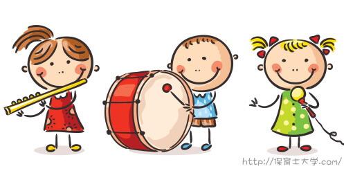 フルート・小太鼓・マイクで演奏するキッズ合唱団