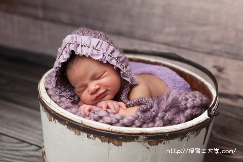 気持ちよく眠っている赤ちゃん