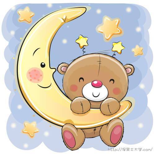 月夜のテディベア