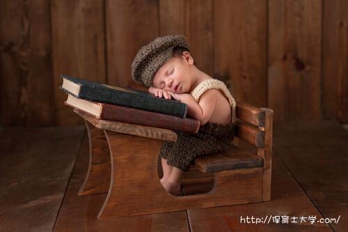 読書中に居眠りしてる子ども